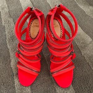 Christian Louboutin Neon ZIPPER Sandal